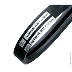 Courroie Trapézoïdale Jumelée 4-SPZ 1500 - Optibelt KB - 4 Brins
