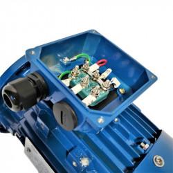 Moteur électrique 0.25KW - 900Tr/min, Fixation à pattes et bride B35-Triphasé 230/400V