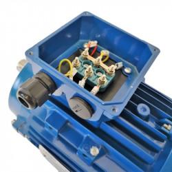Moteur électrique 3Kw - 720Tr/min - Fixation à Bride B14 - Triphasé 230/400V