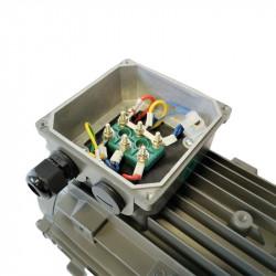 Moteur électrique 0.75KW Triphasé 230/400V - 910Tr/min, Fixation à pattes B3
