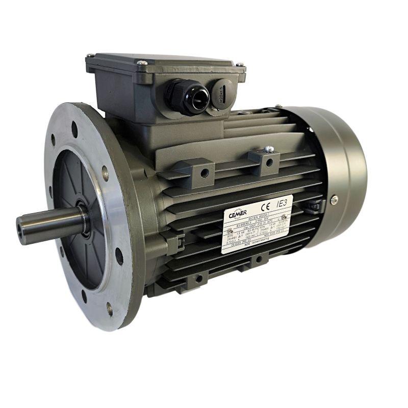 Moteur électrique triphasé 1.5 kw -1500 Tr/min - bride B5 - 230/400V - Cemer - IE3