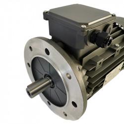 Moteur électrique 1.1KW-920Tr/min, Fixation à bride B5,Triphasé 230/400V
