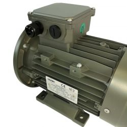 Moteur électrique 1.1KW Triphasé 230/400V - 3000Tr/min, Fixation à pattes et bride B35