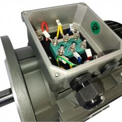Moteur électrique triphasé 1.5kw  230/400V - 3000Tr/min, Fixation à pattes et bride B35