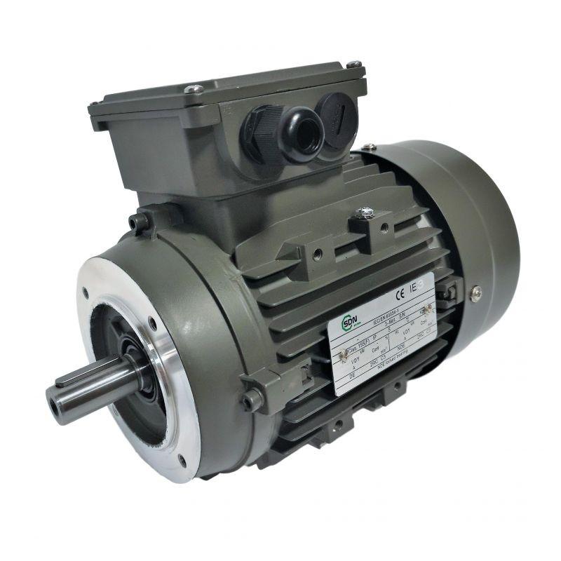 Moteur électrique 4KW Triphasé 230/400V - 1430Tr/min, Fixation à bride B14