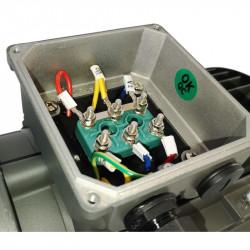 Moteur électrique 0.75KW Triphasé 230/400V - 910Tr/min, Fixation à pattes et bride B34