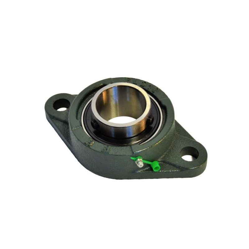 Palier applique UCFL 201-Roulement Autoaligneur pour arbre de 12mm, fonte 2 trous