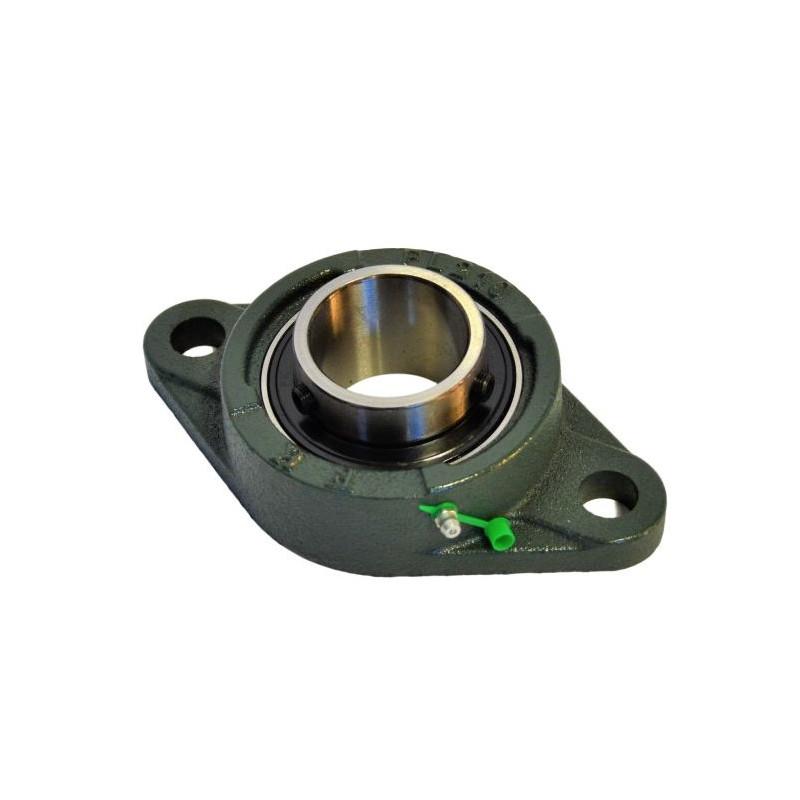 Palier UCFL 204 applique fonte 2 trous -Roulement Autoaligneur pour arbre de 20mm