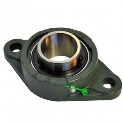Palier UCFL 205 applique fonte 2 trous -Roulement Autoaligneur pour arbre de 25mm