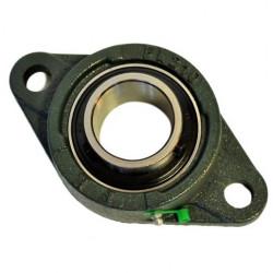 Palier applique UCFL 203-Roulement Autoaligneur pour arbre de 17mm, fonte 2 trous