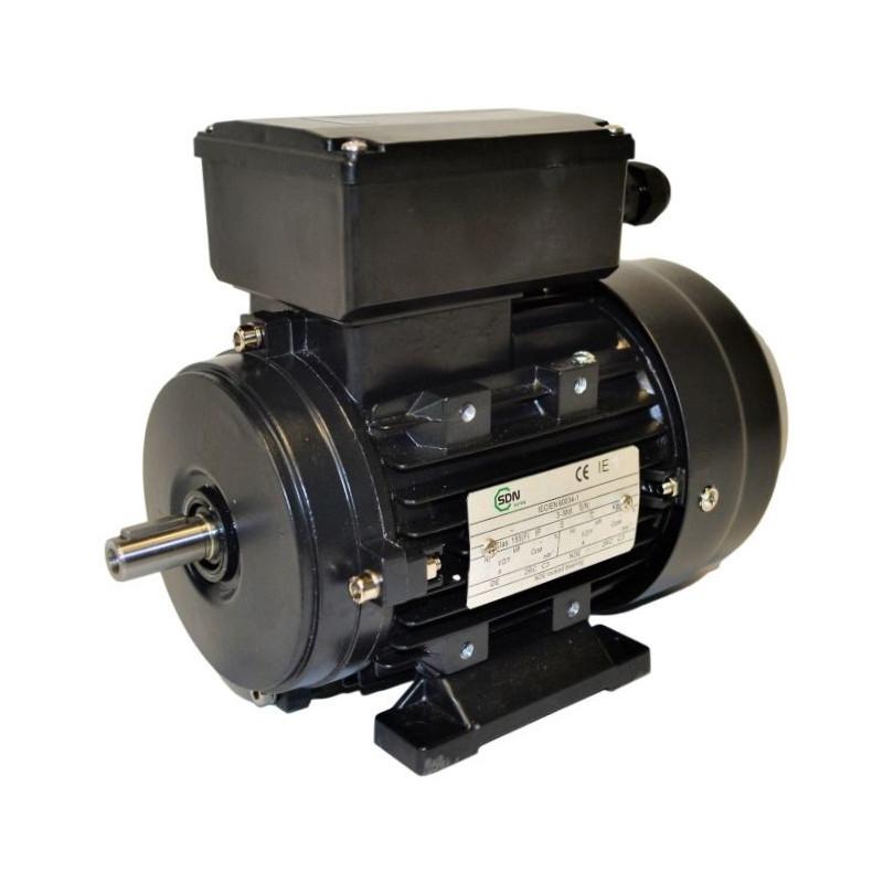 Moteur électrique monophasé 0.75kw 230V - 1000tr/min Fixation à pattes B3