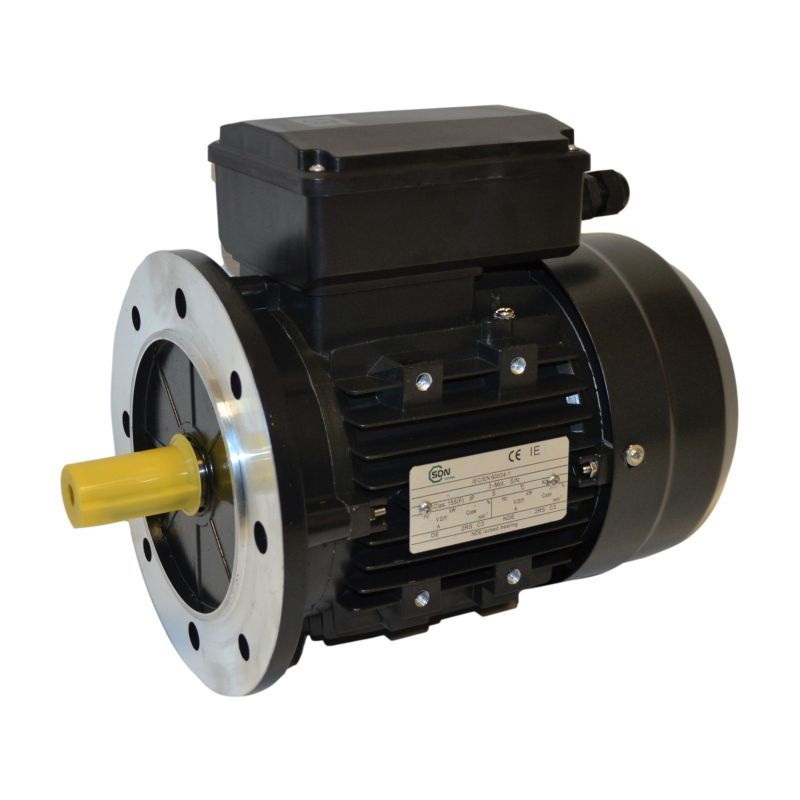 Moteur électrique monophasé 0.18 Kw - 3000 tr/min - B5 - 230V - un condensateur