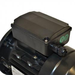 Moteur électrique monophasé 0.12 Kw - 1500 Tr/min - B5 - 230V - un condensateur