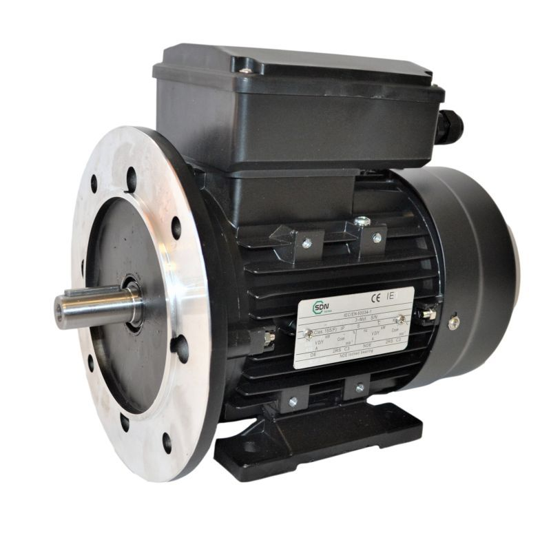 Moteur électrique monophasé, 1.1KW-230V-1000Tr/min- à Pattes et Bride Trous Lisses B35
