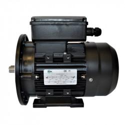Moteur électrique monophasé, 0.25KW-230V-1000Tr/min- à Pattes et Bride Trous Lisses B35
