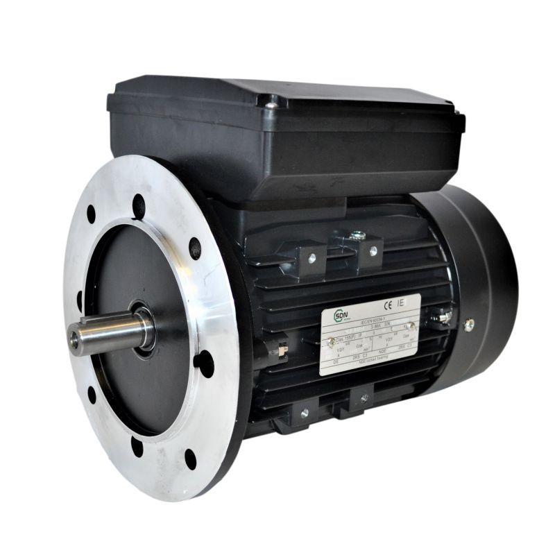 Moteur monophasé 2.2Kw à double condensateurs - 1500tr/min Fixation Bride B5