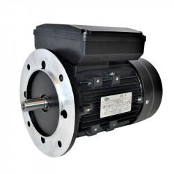 Moteur monophasé à double condensateur 0.37KW 230V - 1500tr/min Fixation Bride B5