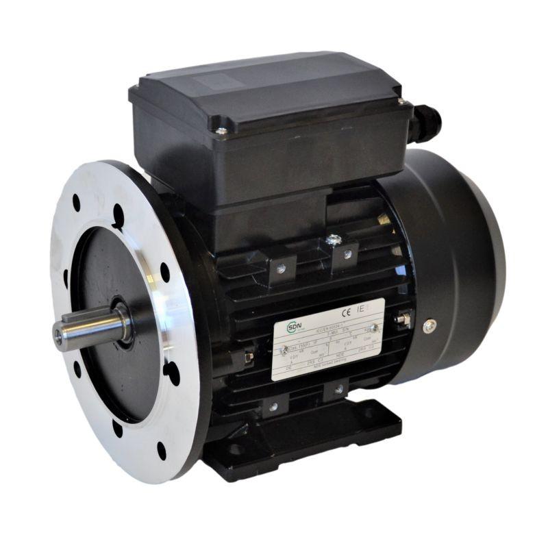 Moteur monophasé 0.12Kw à double condensateurs - 1500tr/min Fixation Bride et Pattes B35
