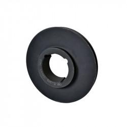 Poulie Fonte Z/SPZ - 1 Gorge - Diamètre 125mm - Diamètre extérieur 129mm - Moyeu amovible 1610
