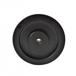 Poulie trapézoïdale SPZ diamètre 112 - 1 gorge - Aléser - Fonte