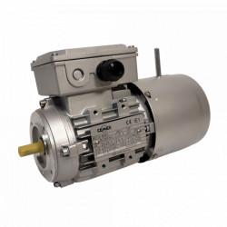Moteur électrique frein 0.12 kw 1000 tr/min 63 IM B14 - 230/400V - Cemer