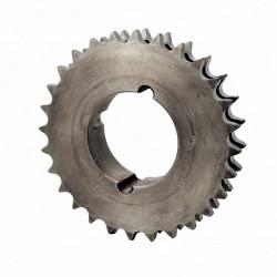Pignon 19 dents à moyeu amovible - Pas de 15.8mm - ISO 10B2- Double denture - Moyeu 1610